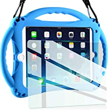 TopEsct Kids Case for New iPad 2017/2018 9.7 inch Case, Shockproof Silicone Handle Stand Case Cover&(Tempered Glass Screen...