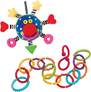 Manhattan Toy Baby Whoozit and Links to Go Baby Travel Toy Accessory Set