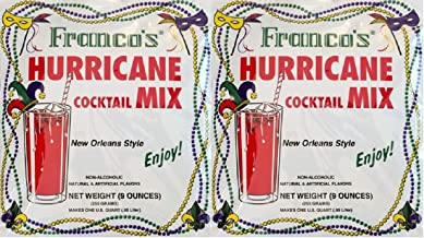Franco's New Orleans Style Hurricane Cocktail Mix, 9 Ounce Pouch (Pack of 2, Makes 2 Quarts Total)
