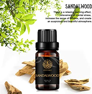 Aromatherapy Essential Oils, 100% Pure Essential Oils Sandalwood Scent for Diffuser, Humidifier, Massage, Aromatherapy, Skin & Hair Care, Sandalwood Aromatherapy Essential Oils 0.33 oz - 10ml