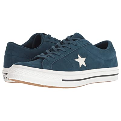 Converse One Star After Party (Blue Fir/Vintage White/Black) Lace up casual Shoes
