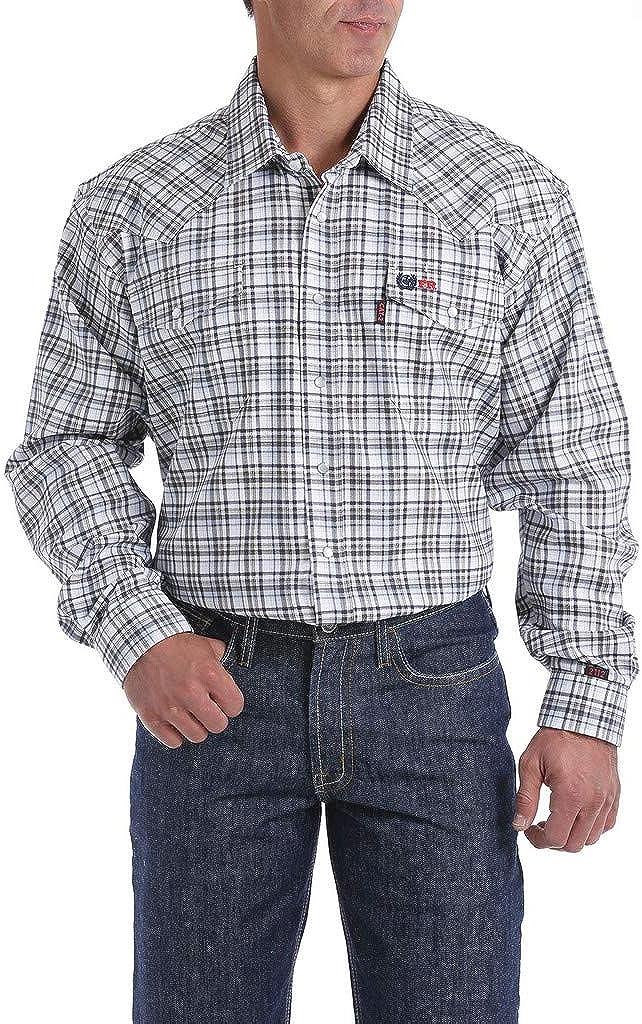 Cinch Men's Fr Lightweight Check Print Long Sleeve Work Shirt - Wlw2002004