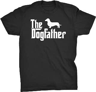 ShirtInvaders The Dogfather - Dachshund - Godfather Weiner Dog T-Shirt