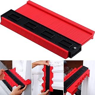 Contour Gauge Duplicator Profile Copy Gauge Shape Measuring Tool for Woodworking, 6 cm Wide (Red)