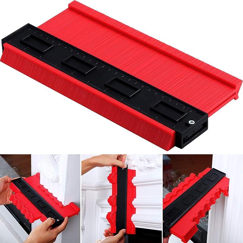 ようこそ自治ゴミ輪郭ゲージ複製プロファイル コピーゲージ形状測定ツール 木工用 赤 幅6cm