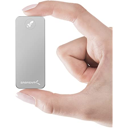 Sabrent Rocket Nano 2TB USB 3.2 10Gb/s External Aluminum SSD (Silver) (SB-2TB-NANO)