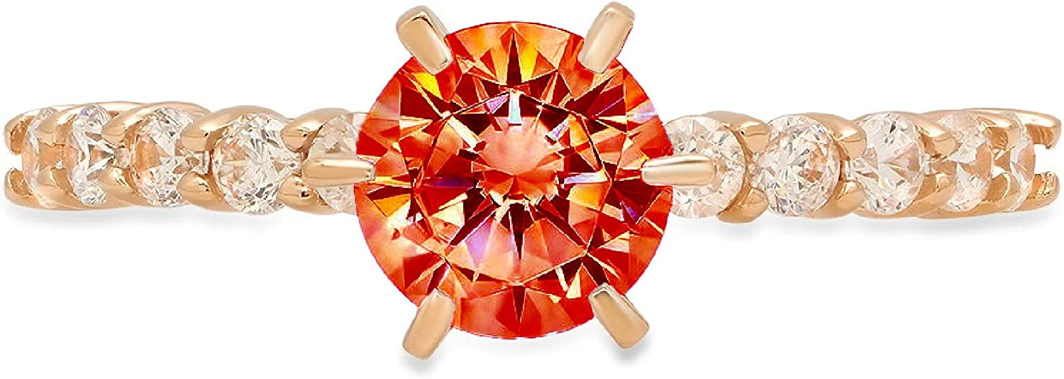 1.20ct Brilliant Round Cut Solitaire Genuine Flawless Red Simula Year-end gift 35% OFF