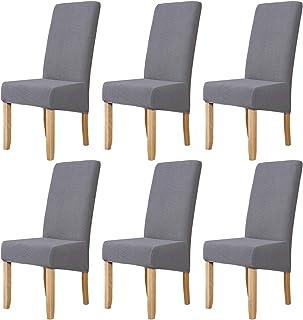 Mingfuxin - Fundas para sillas de comedor de gran tamaño, elásticas, extraíbles y lavables, protectores de silla para comedor, hotel, dirección de banquetes