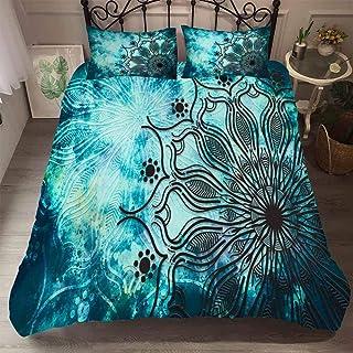 RITIOA Parure de lit 3D avec housse de couette et taies d'oreiller en microfibre polyester confortable et respirant avec f...