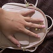 \u201cRose with Gray Strap\u201d Large Plain Jane Cellphone Bag