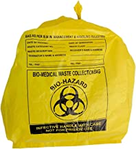 TOTAL HYGIENE Bio Waste Virgin Printed Garbage Bag (Yellow, 19X21)-100 Pieces