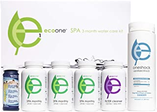 ecoone | Hot Tub Chemical Maintenance & Supply Kit | Spa Shock, Conditioner & Purification Kit | Contains Oneshock Chlorin...