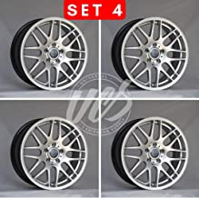 NEW 18 Inch x 8/9 M3 CSL STYLE Staggered Wheels Rims 5 lug Hyper Silver compatible with BMW F32 F33 Set of 4