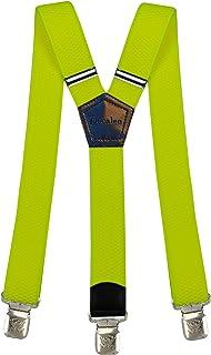 Decalen Bretelle Uomo Donna Unisex larghe 4 centimetri forma a Y regolabile ed elastico per i pantaloni molto forti Clip v...