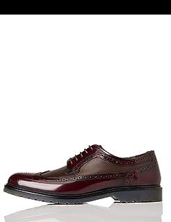 Marca Amazon - find. Zapato Piel Brogue con Calados para Hombre