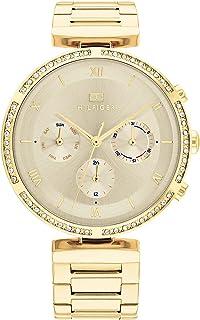 ساعة كامي للنساء من تومي هيلفجر بمينا ذهبي فاتح - موديل 1782392