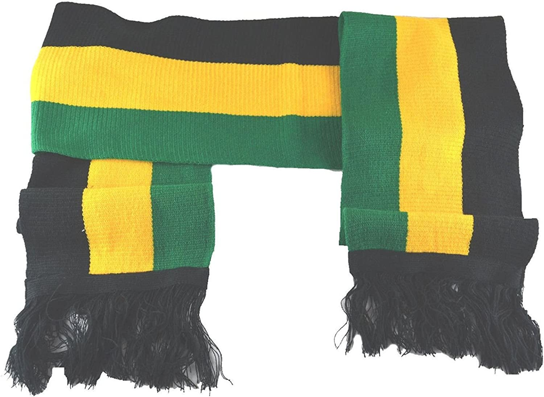 MM Jamaican Scarf Black Yellow Green 8