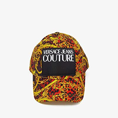 Versace Jeans Couture Leo Chain Print Cap (Racing Red) Caps