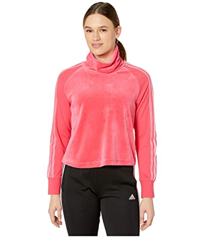 adidas Sport ID Long Sleeve Tee (Real Pink) Women