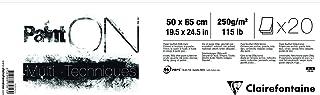 Clairefontaine 975813C Pochette dessin à élastique, DIN A4+, idéal pour ranger leurs oeuvres Blanc