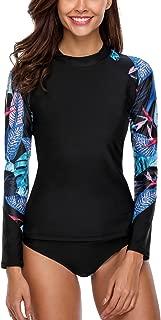 Long Sleeve Rash Guard Swimwear UPF 50+ Sun Protection Swim Shirts Athletic Tops