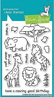 طوابع لون فاون الشفافة 10.16 سم × 15.24 سم - مخلوقات على السافانا (عبوة من قطعة واحدة)