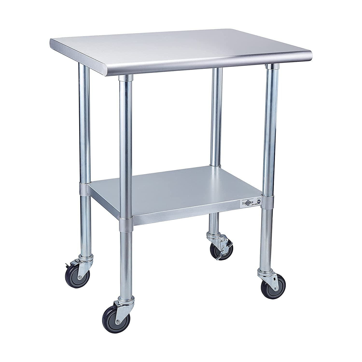 Max 40% OFF Max 53% OFF Profeeshaw Stainless Steel Prep Table NSF Commercial with Wheels