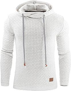 cb584faaa875 Haseil Men s Longsleeve Pullover Hoodie Winter Warm Athletic Hooded  Sweatshirts