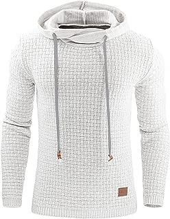 Haseil Men's Longsleeve Pullover Hoodie Winter Warm Athletic Hooded Sweatshirts