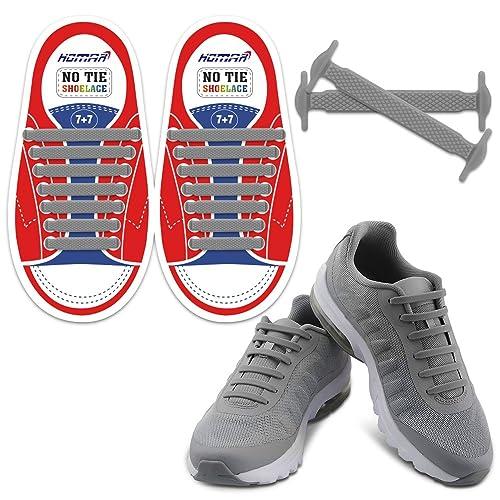 25f63e15334d HOMAR No Tie Shoelaces for Kids and Adults - Best in Sports Fan Shoelaces -  Waterproof