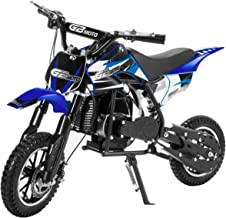 XtremepowerUS 49CC 2-Stroke Gas Power Mini Pocket Dirt Bike Dirt Off Road Motorcycle Ride-on (Blue)