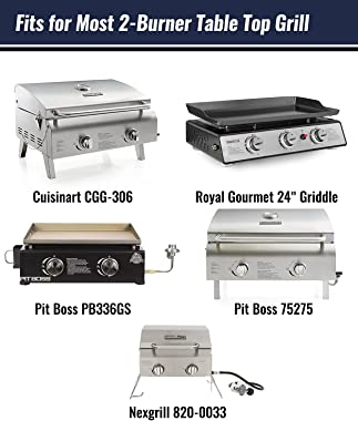 """NUPICK 24 Inch Table Top Grill Cover for Cuisinart CGG-306, Royal Gourmet 24"""" Griddle, Nexgrill 820-0033, Pit Boss 75275"""