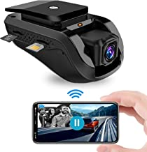 Dual Dash Cam, Toptellite 3G WiFi Dash Camera with Remote Live Video for Car 1080P Night Vision Front and Inward Camera with Built-In GPS, G-sensor, Loop Recording, Vibration Alarm - Free 16GB TF Card