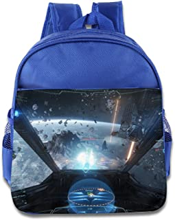 XJBD Custom Personalized Star Citizen Boys And Girls School Backpack For 1-6 Years Old RoyalBlue