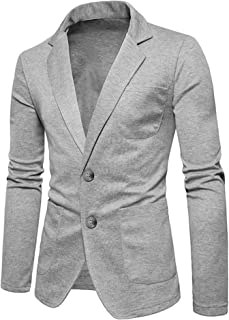men's grey jersey blazer