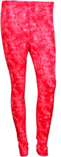 IndiWeaves Women Premium Cotton Ankle Length Casual Red Stretchable Printed Legging
