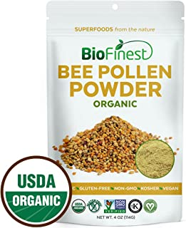BioFinest Bee Pollen Powder - 100% Pure Freeze-Dried Antioxidant Superfood - Usda Certified Organic Kosher Vegan Raw Non-G...