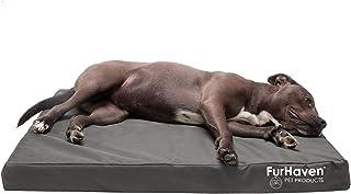 Furhaven Pet Dog Bed - Deluxe Memory Foam Mat Water-Resistant Indoor/Outdoor Logo Print Traditional Foam Mattress Pet Bed ...