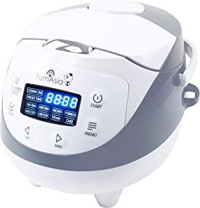 Yum Asia Panda Mini Rice Cooker With Ninja Ceramic Bowl and Advanced Fuzzy Logic (3.5 cup, 0.63 litre) 4 Rice Cooking Functions, 4 Multicooker functions, Motouch LED display (US Version)