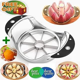 Apple Corer Slicer+Orange peeler, Apple Slicer Stainless steel Core remover Blooming Onion Cutter Pear Divider Wedger Metal Decorer Tool For Large Apple Kitchen Gadgets
