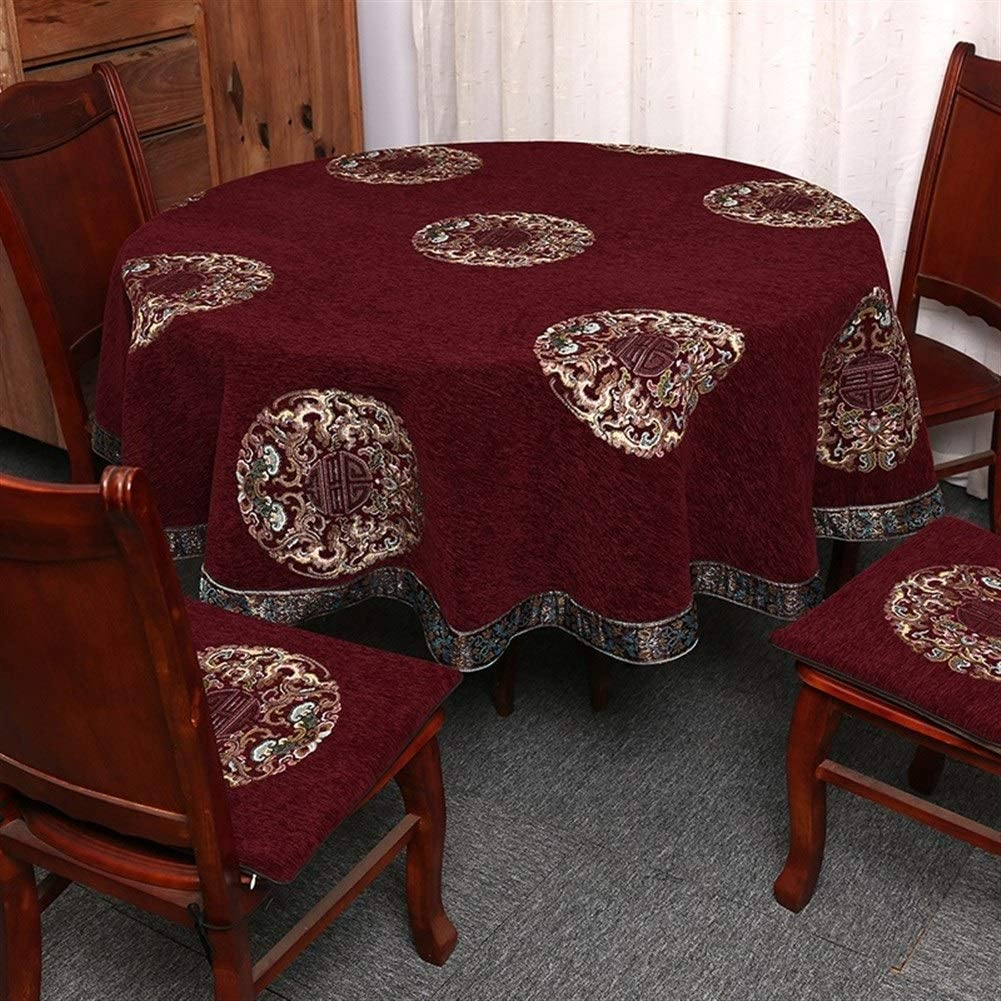 XQLSRJ Elegant and Max 73% OFF Luxurious Tablecloth Tabl Topics on TV Party Round Wedding