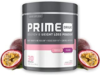 Complete Nutrition Prime Drive Energy & Weight Loss Powder, Tropical Passion, Increase Energy, Boost Metabolism, Fat Burner, Appetite Suppressant, 10.2oz (30 Servings)