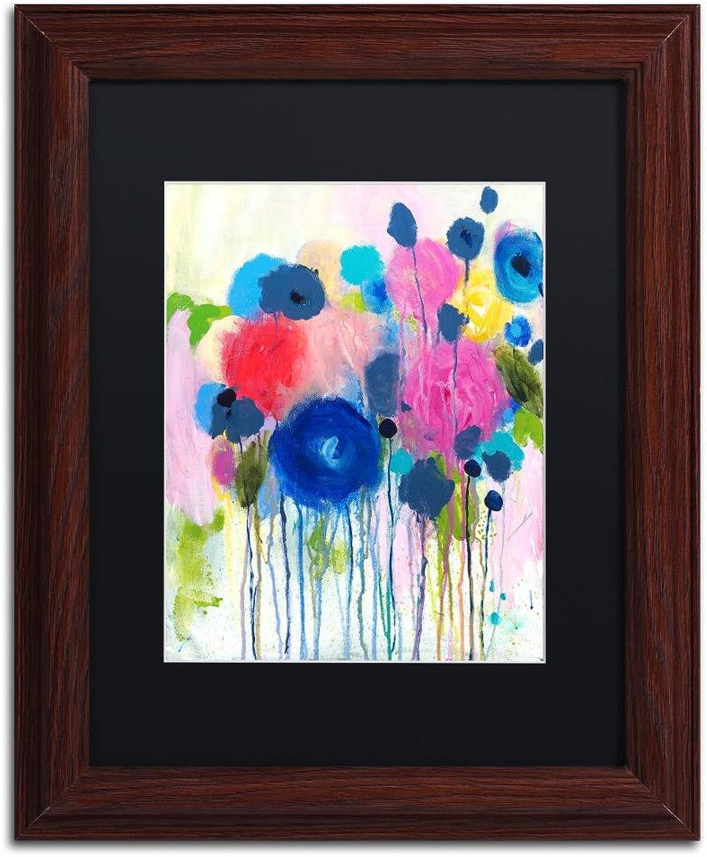 Trademark Fine Art Aimez Beaucoup by Carrie Schmitt, Black Matte, Wood Frame 11x14