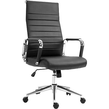 SVITA Elegance Comfort Bürostuhl Kunstleder schwarz Schreibtischstuhl Drehstuhl