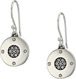 Contempo Ice Reversible Round French Wire Earrings