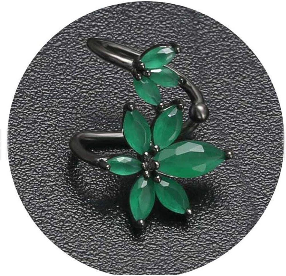 No Piercing Cartilage Ear Jewelry flower shape druzy gemstone Clip On Earrings