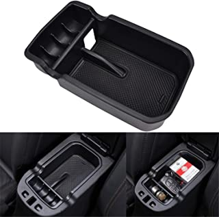 YOCTM Car Center Console Tray Armrest Secondary Glove Storage Box Center Console Organize for 2017 2018 2019 Jeep Compass Limited Latitude Trailhawk Sport Accessories (Pack of 1)
