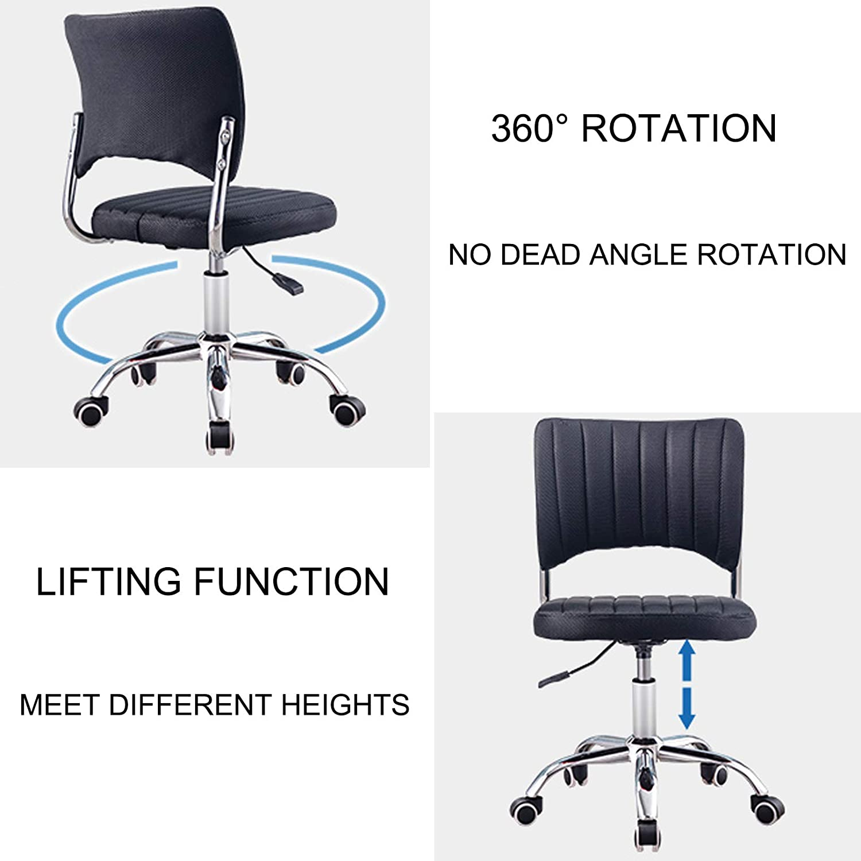QHF Pas de Chaise d'accoudoir pour Chaise de Bureau Chaise rotative pour Maison Chaise d'angle Chaise de Loisirs Petites chaises de Bureau pour Petits espaces Black