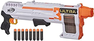 NERF Ultra Three Blaster, Pump-Action, 8-Dart Internal Clip, 8 Ultra Darts, Compatible Only Ultra Darts