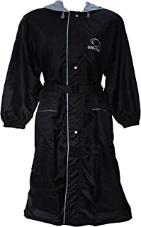 Divine Knee Length Raincoat for Women Style - Columbiana Waterproof Rain Jacket with Attached Hood & Stylish Waist Belt - Multicolour